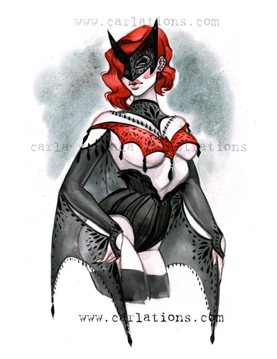 Gotham, bombshells, batman, batwoman, batwoman pin up